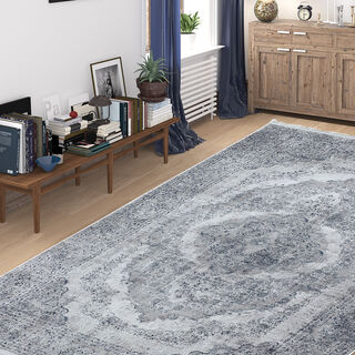 Cottage Silky Carpet Velvet Grey 80X150 Cm