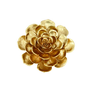 Wall Deco Flower Gold 27.5*8.8*29.5Cm