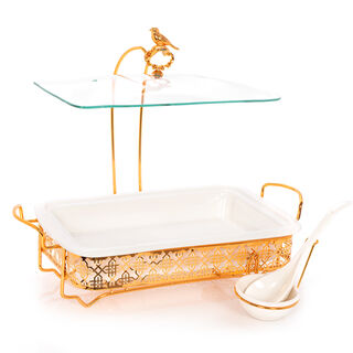 Rectangle Casserole With Hanger And Warmer