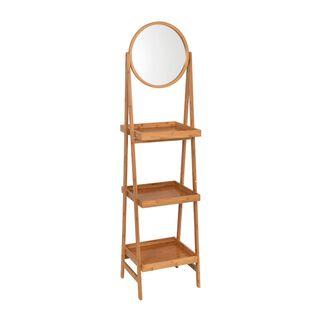 Wooden Bathroom Mirror Shelf
