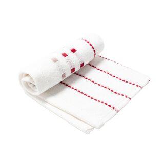 منشفة قطن لون أبيض 30*30 سم