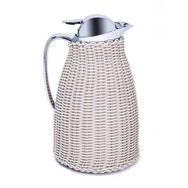 Dallaty Stainless Steel Vacuum Flask Rattan With Design Of Bamboo Grey 1L image number 0