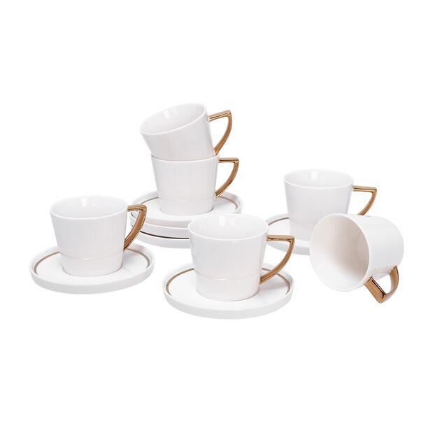 طقم أكواب شاي 12 قطعة لون ذهبي من لاميسا image number 1