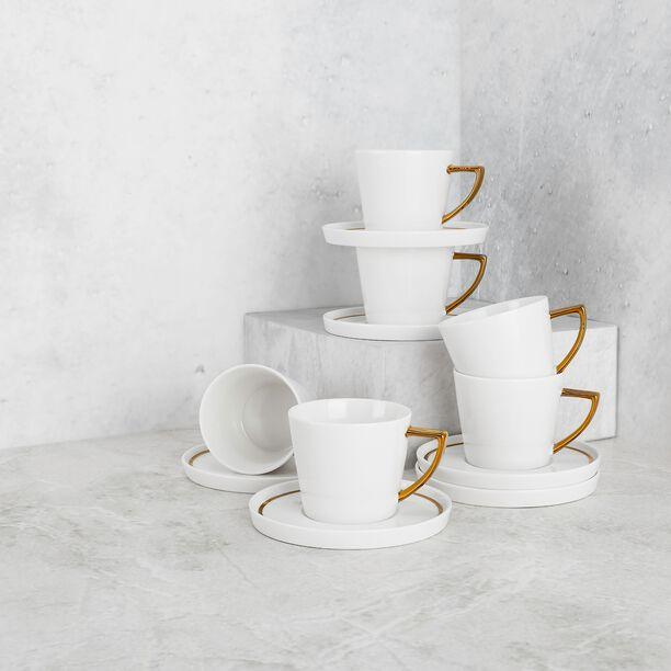 طقم أكواب شاي 12 قطعة لون ذهبي من لاميسا image number 2