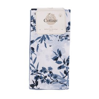 Cottage 2 Pieces Kitchen Towel Set L: 60 * W: 40Cm Spring Design Blue Color