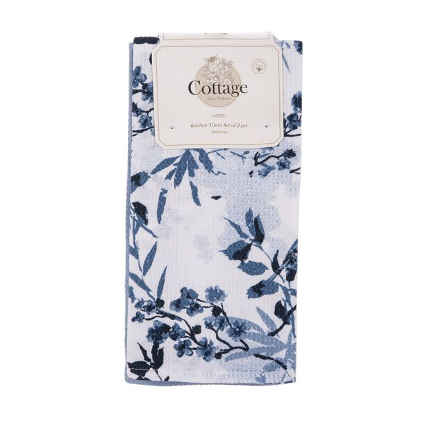 Cottage 2 Pieces Kitchen Towel Set L: 60 * W: 40Cm Spring Design Blue Color image number 0