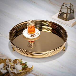 Steel Tray Round Ribbed