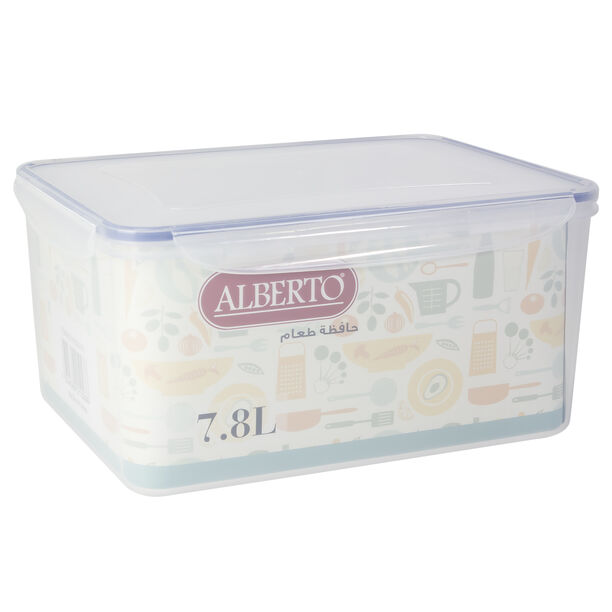 Alberto Plastic Food Saver Rect Shape V:7.8L Blue Lid image number 1