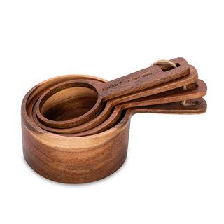 Alberto 4 Pieces Wooden Measuring Spoons
