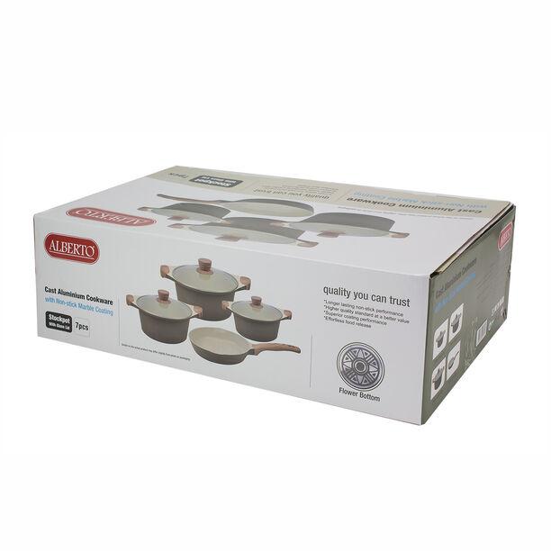 Alberto London 7 Pieces Ceramic Cookware Set Olive  image number 2