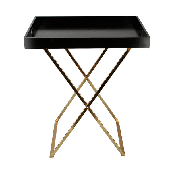 Butler Table Tray Top Gold With Black image number 1