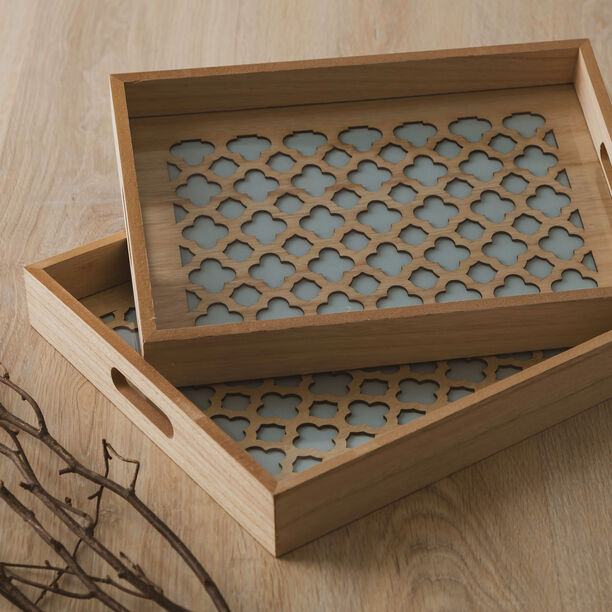 Wooden Tray Set 2 Pieces image number 4