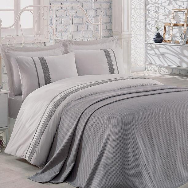 Natural Cotton Summer Bedspread Grey image number 1