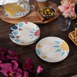 Arabesque 4 Pcs Set Dessert Plates New Bone