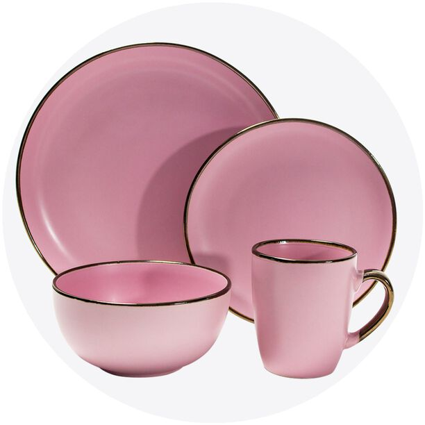 La Mesa 16 Pieces Dinner Set Pink image number 0