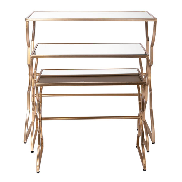 Side Table Set Of 3 Metal Gold image number 1