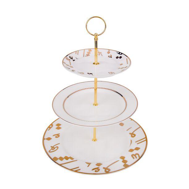 La Mesa 3 Tiers Porcelain Dessert Serving Gold image number 0