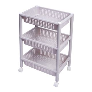 Kitchen Trolley Plastic 3 Layer With Wheels