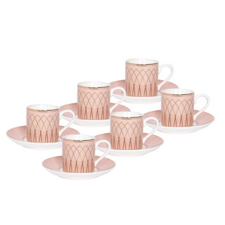 La Mesa 12 Pieces Porcelain Turkish Coffee Cups