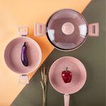 Alberto Granite Series 7Pcs Cookware Set Pink Stone image number 2