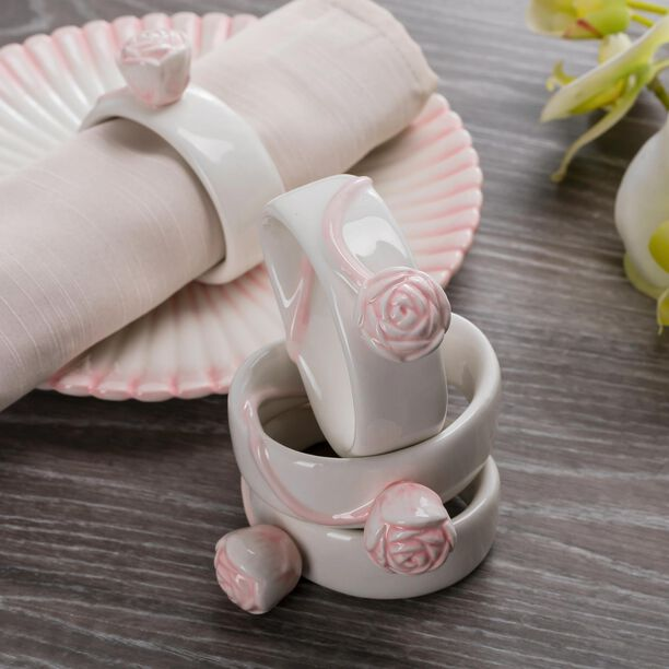 Dolomite 4 Pieces Napkin Ring Pink image number 2