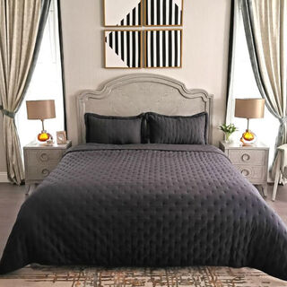 Cottage 3 Pieces Bedspread Pillow Cover Marine King 250X240 Cm