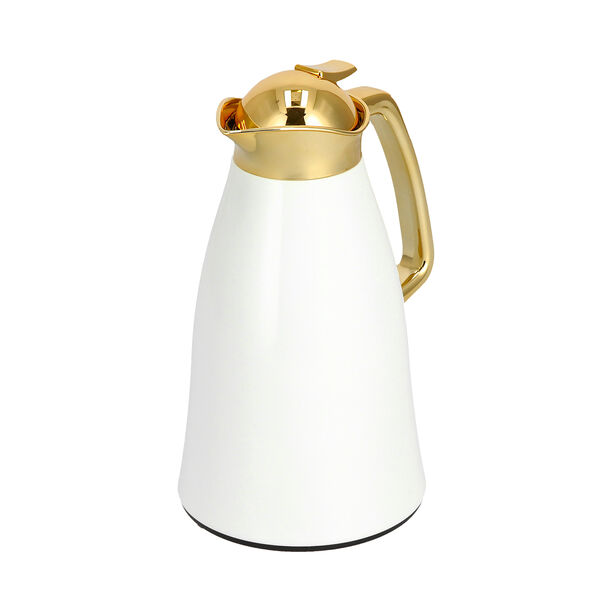 Steel Vacuum Flask Falco Gold And White 1L image number 2