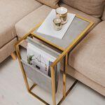 طاولة جانبية من المعدن و الخشب  image number 2