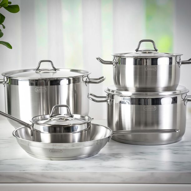 Alberto Stainless Steel Cookware Set 9 Pieces image number 3