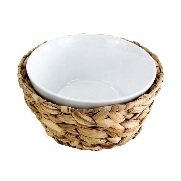 La Mesa Oven/Serving Bowl With Rattan Basket image number 0