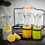 طقم المشروبات من البرتو مكوّن من 6 كاسات مع قاعدة ومسّاكة image number 2