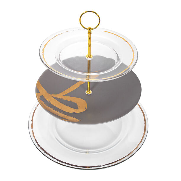 Gold Figure 3 Tier Cake Plate image number 3