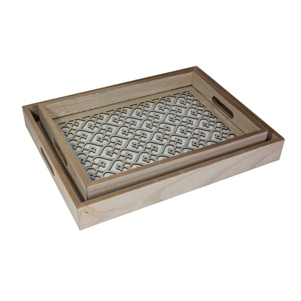 Wooden Tray Set 2 Pieces image number 0