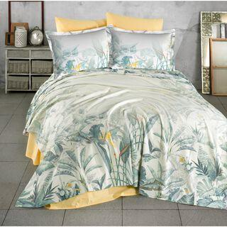 Cottage 3 Pieces Cotton Duvet Cover Yellow King 260X240 Cm