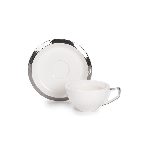 English Coffee Cups Set Silver 100 Ml image number 1
