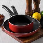Alberto 2 Pieces Set Fry Pan + Sauce Pan Red  image number 5