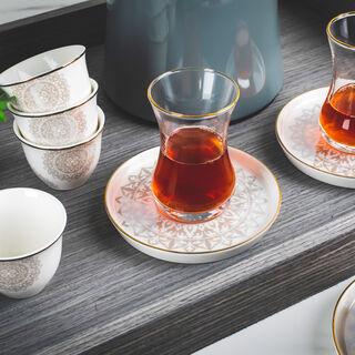 طقم شاي وقهوة 18قطعة