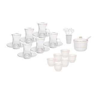 Zukhroof 28Pc Porcelain Tc Set Thumanya White Serve 6