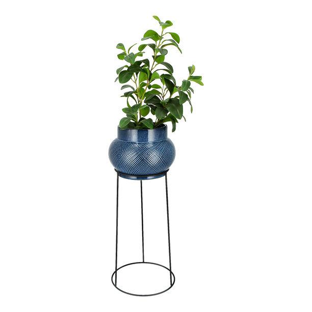 إناء نباتات سيراميك بحامل معدني image number 1