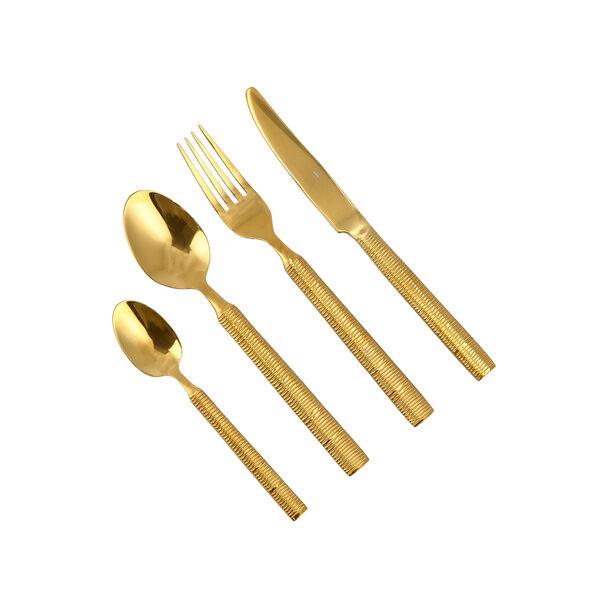 Heide 16 Pcs Cutlery Set Shiny Gold image number 1