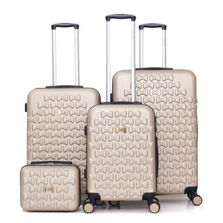 Travel Vision Set Of 4 Butterfly+Vanty Bag Champane 20/24/28""
