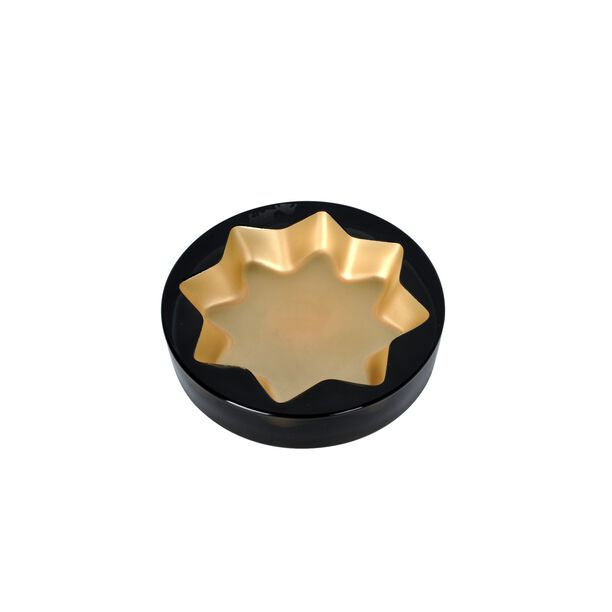 Glass Ashtray Grey And Gold Casa Blanca image number 0