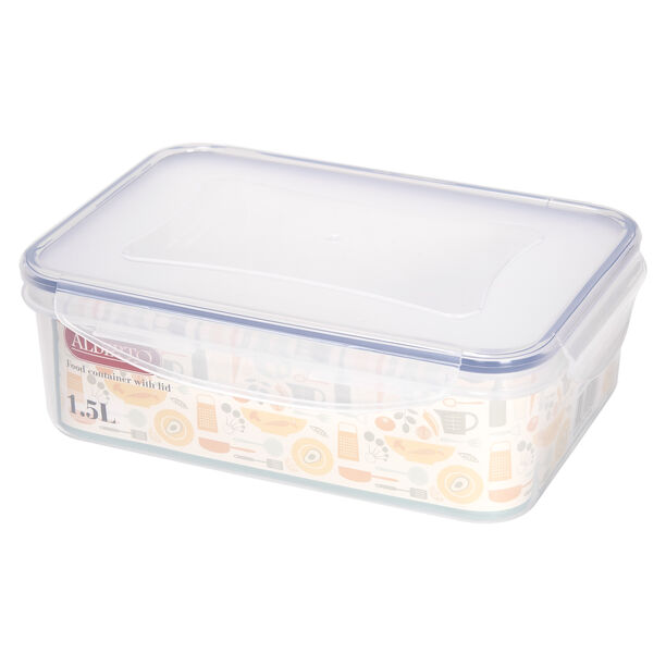 Alberto Plastic Food Saver Rect Shape V:1.5L Blue Lid image number 1