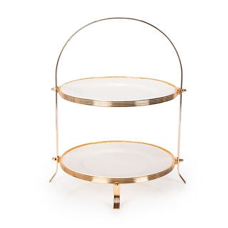 2 Tiers Round Serving Stand