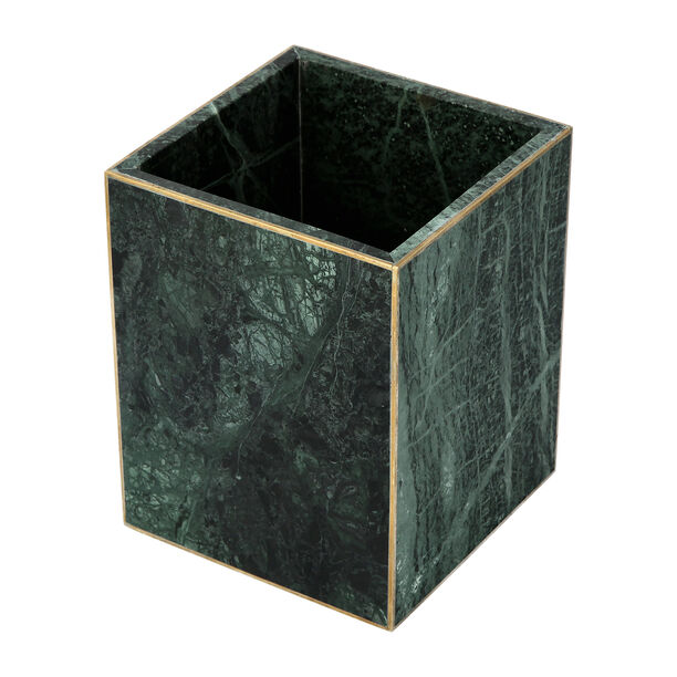 Trash Bin Green Marble Dia image number 2