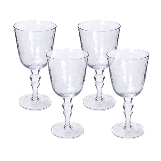 Glass Stem Goblets Cold Spot And Blue Luster image number 0
