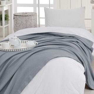 Natural Cotton Summer Bedspread Grey