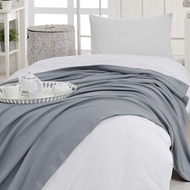 Natural Cotton Summer Bedspread Grey image number 0