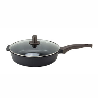 Alberto Cast Ceramic Deep Fry Pan With Glass Lid 30Cm