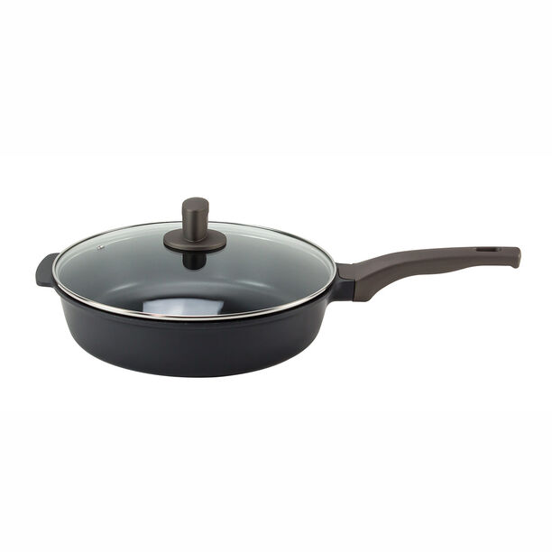 Alberto Cast Ceramic Deep Fry Pan With Glass Lid 30Cm image number 0
